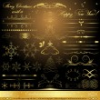 Royalty-Free Stock  : Calligraphic golden design elements