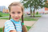 Pretty girl outdoors — Stock Photo