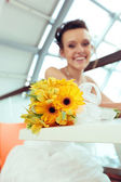 Young smiling bride — Stock Photo