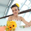 Young pretty bride — Stockfoto