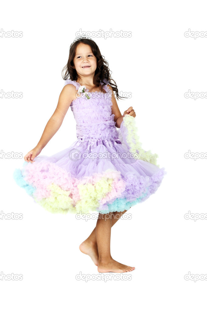 Beautiful little girl in the festive dress — Stock Photo #6813258