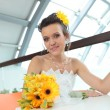 Young smiling bride — Foto Stock