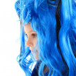 Stock Photo: Blue wig