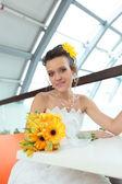 Pretty young bride — Stock Photo