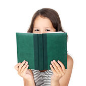 Child with a book — Stock Photo
