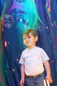 In the soap bubble — Stock Photo