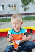 Child on the playground — Stock Photo