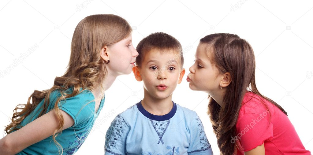 little girls kissing other little girls