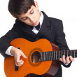 Young cute guitarist — Stock Photo