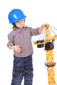 Little builder — Stock Photo