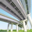 Pillars and elevated road — Stock Photo