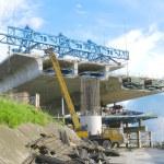 Bridge under construction — Stock Photo