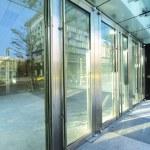 Transparent door — Stock Photo