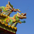 Stock Photo: Dragon on rooftop