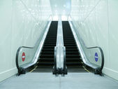 Escalator in underground — Foto Stock