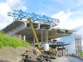 Pont en construction — Photo