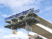 Bridge under construction — Stock Photo