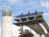 строящийся мост — Стоковое фото