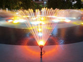 Fountain in night — Stock Photo