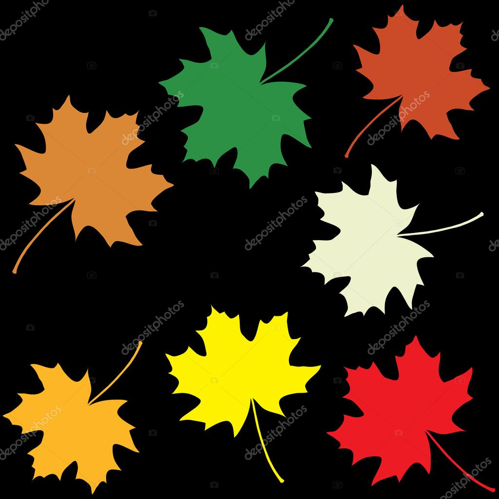 Set of colorful maple leaves — Stock Vector #6825147