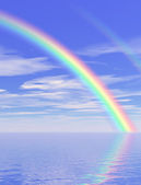 Beautiful rainbow — Fotografia Stock