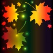 Autumn night background - Stock Vector