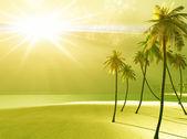 Tanrı'nın ışığı güzel adası — Stok fotoğraf