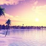 Beautiful island in the sunset — Stock Photo