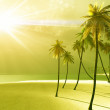 Beautiful island in the god rays — Stock Photo #7290069