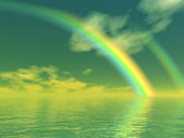 Beautiful rainbow — Stock Photo