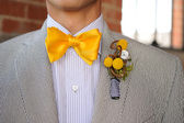 Seersucker Suit with yellow bowtie — Stock Photo