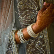 Detail shot of henna on Indian bride — Stock Photo