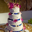 Beach Theme Wedding Cake — Stock Photo