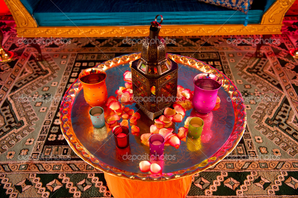 Image detail of a table setting at an indian wedding — Stock Photo #7094715