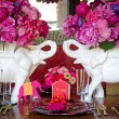 Place setting for Indian wedding — Stock Photo