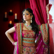 Indian Bride Standing - Stock Photo
