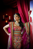 индийские невесты стоя — Стоковое фото