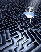 Labyrinthe et diamant — Photo