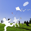 Stock Photo: Flying kites