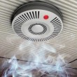 Stock Photo: Smoke and fire detector