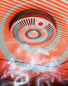 Smoke and fire detector — Stockfoto