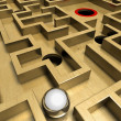 Labyrinth and ball — Stock Photo #7339976