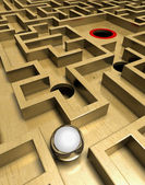 Labyrinth and ball — Stock Photo