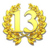 Number thirteen — Stock Photo