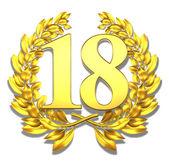 Number eighteen — Stock Photo