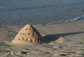 Precarious Sand Castle — Stock Photo