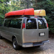 Canoeing Van — Stock Photo