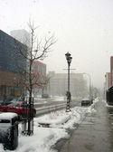 City Snow Storm — Stock Photo