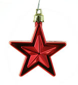 Hanging Red Xmas Star — Stock Photo