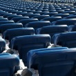 Blue Stadium Seats - Stock Photo